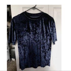Velvet dark blue shirt